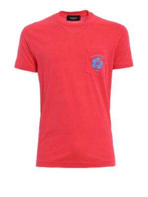 Dsquared2: t-shirts - Hawaii printed pocket T-shirt