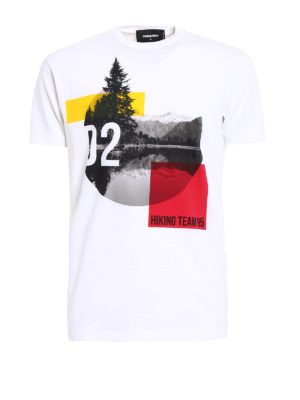 Dsquared2: t-shirts - Hiking Team 95 cotton Tee