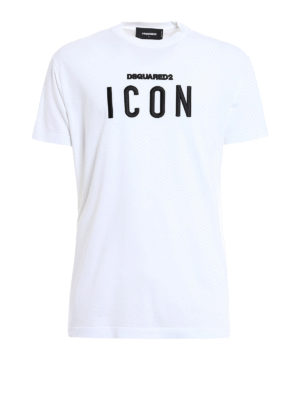 Dsquared2: t-shirts - Icon embroidery cotton T-shirt