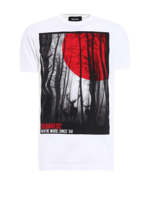 Dsquared2: t-shirts - Into the Wood cotton Tee