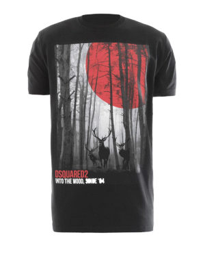 Dsquared2: t-shirts - Into the Wood print cotton T-shirt