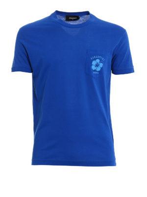 Dsquared2: t-shirts - Logo printed pocket T-shirt