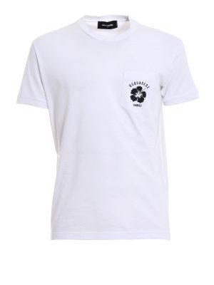 Dsquared2: t-shirts - Logo printed pocket white T-shirt