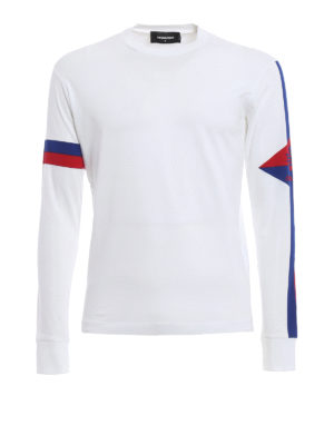 Dsquared2: t-shirts - Long sleeve cotton T-shirt