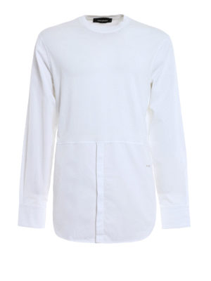 Dsquared2: t-shirts - Long sleeved cotton T-shirt