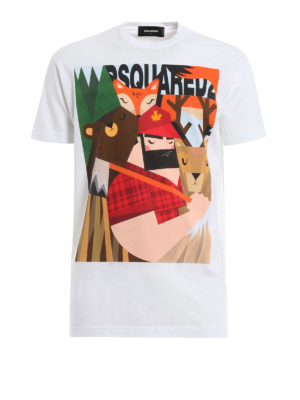 Dsquared2: t-shirts - Lumberjack and animal print Tee