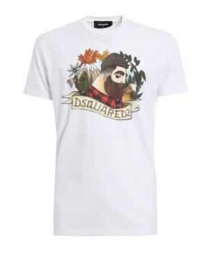 Dsquared2: t-shirts - Lumberjack print T-shirt