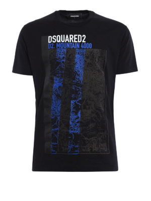 Dsquared2: t-shirts - Mountain 4000 print cotton T-shirt