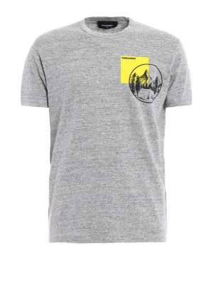 Dsquared2: t-shirts - Mountain Dan cotton melange T-shirt