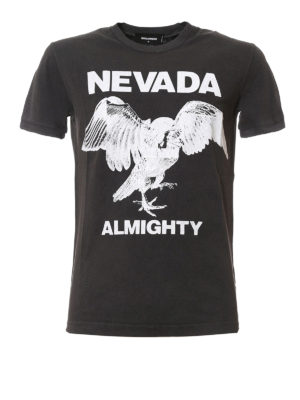Dsquared2: t-shirts - Nevada Almighty print T-shirt