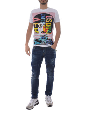Dsquared2: t-shirts online - Africa cotton T-shirt