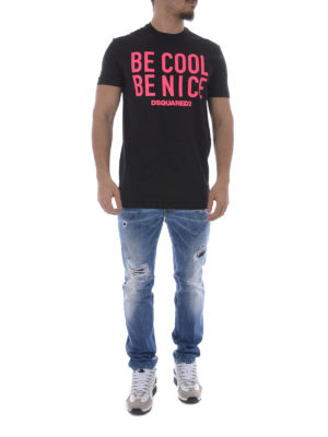 Dsquared2: t-shirts online - Be Cool Be Nice jersey T-shirt