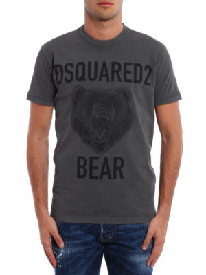 Dsquared2: t-shirts online - Bear print cotton T-shirt
