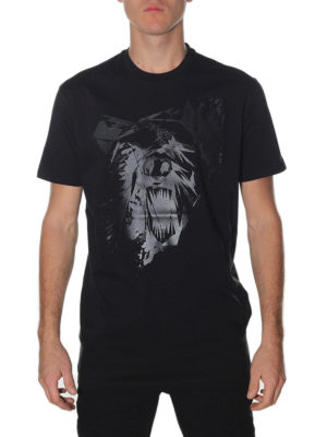 Dsquared2: t-shirts online - Black cotton printed T-shirt