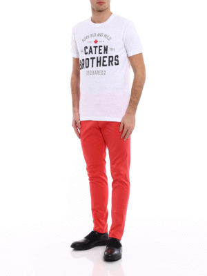 Dsquared2: t-shirts online - Caten Brothers white Tee