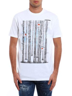 Dsquared2: t-shirts online - Cip! Cip! print cotton T-shirt
