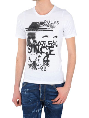 Dsquared2: t-shirts online - Contrasting print T-shirt
