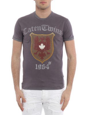 Dsquared2: t-shirts online - Crest print jersey T-shirt
