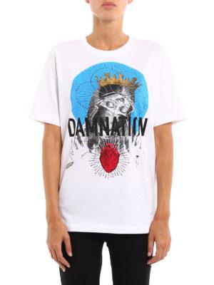 Dsquared2: t-shirts online - Damnation print cotton T-shirt