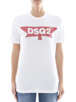 Dsquared2: t-shirts online - DSQ2 print cotton T-shirt