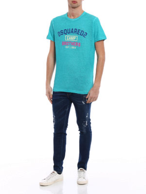 Dsquared2: t-shirts online - Dsquared2 Camp Brothers green Tee