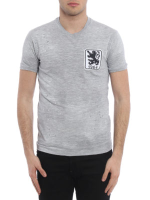 Dsquared2: t-shirts online - Embroidered chest patch Tee
