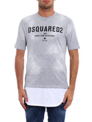 Dsquared2: t-shirts online - Extended bottom long T-shirt