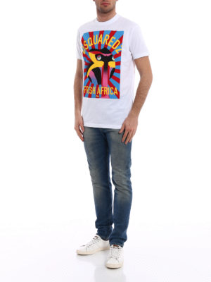 Dsquared2: t-shirts online - Fresh Africa print cotton T-shirt