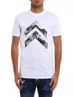 Dsquared2: t-shirts online - Geometric Forest cotton T-shirt
