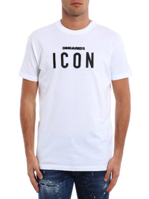 Dsquared2: t-shirts online - Icon embroidery cotton T-shirt
