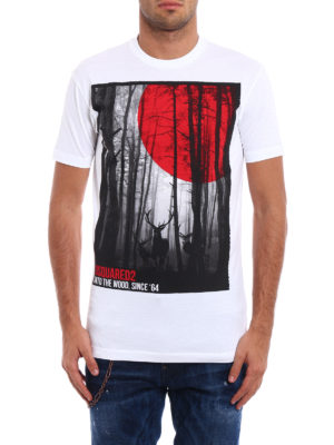 Dsquared2: t-shirts online - Into the Wood cotton Tee