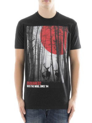 Dsquared2: t-shirts online - Into the Wood print cotton T-shirt