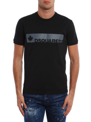 Dsquared2: t-shirts online - Logo lettering cotton T-shirt