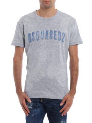 Dsquared2: t-shirts online - Logo lettering maxi print T-shirt