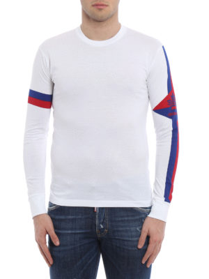Dsquared2: t-shirts online - Long sleeve cotton T-shirt
