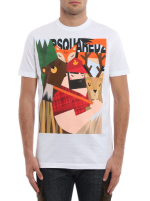 Dsquared2: t-shirts online - Lumberjack and animal print Tee