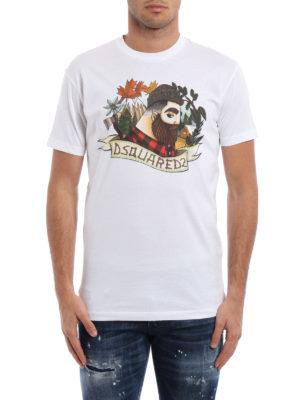 Dsquared2: t-shirts online - Lumberjack print T-shirt