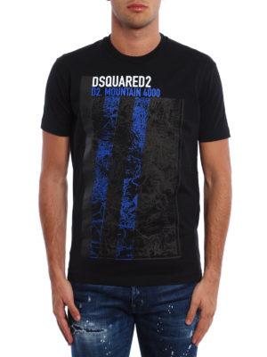 Dsquared2: t-shirts online - Mountain 4000 print cotton T-shirt