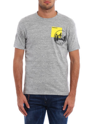 Dsquared2: t-shirts online - Mountain Dan cotton melange T-shirt