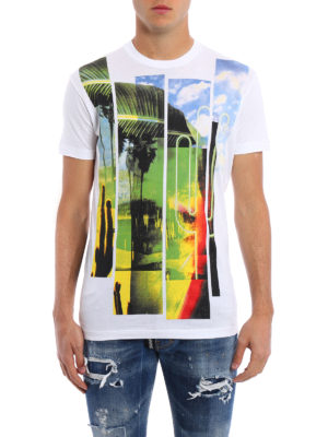 Dsquared2: t-shirts online - Multicolour printed cotton Tee