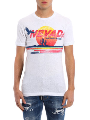 Dsquared2: t-shirts online - Nevada print cotton Tee
