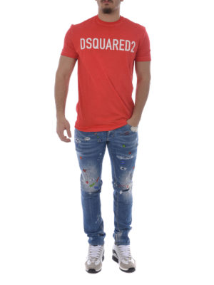 Dsquared2: t-shirts online - Pastel Logo jersey T-shirt