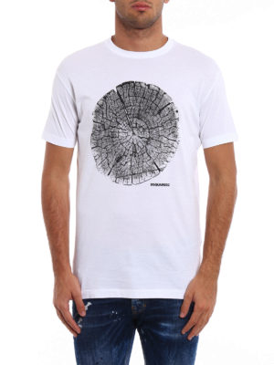 Dsquared2: t-shirts online - Printed cotton Tee