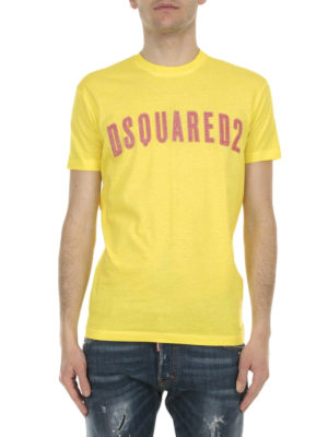 Dsquared2: t-shirts online - Printed logo cotton T-shirt