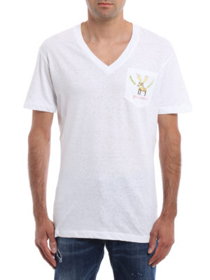 Dsquared2: t-shirts online - Reindeer print T-shirt