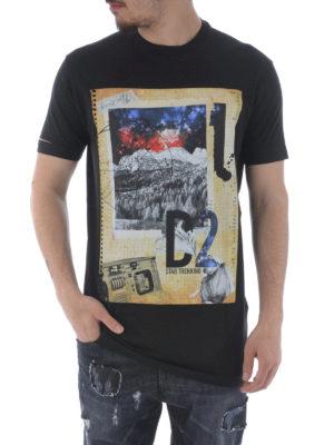 Dsquared2: t-shirts online - Star Trekking print cotton T-shirt
