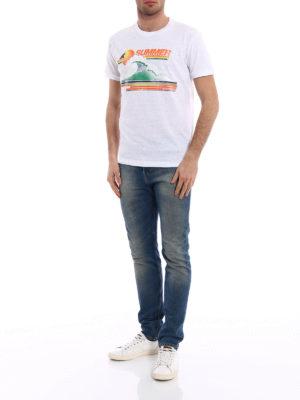 Dsquared2: t-shirts online - Summer print cotton T-shirt.