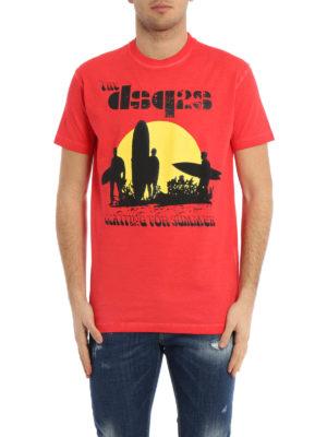Dsquared2: t-shirts online - Surfer sunset T-shirt