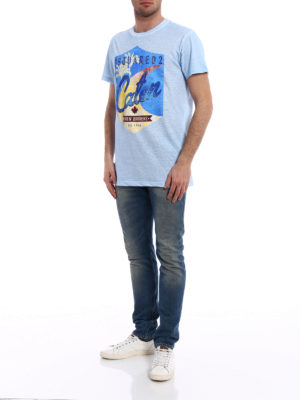 Dsquared2: t-shirts online - Surfin' Brothers cotton T-shirt