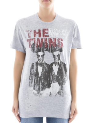 Dsquared2: t-shirts online - The Twins print drilled T-shirt